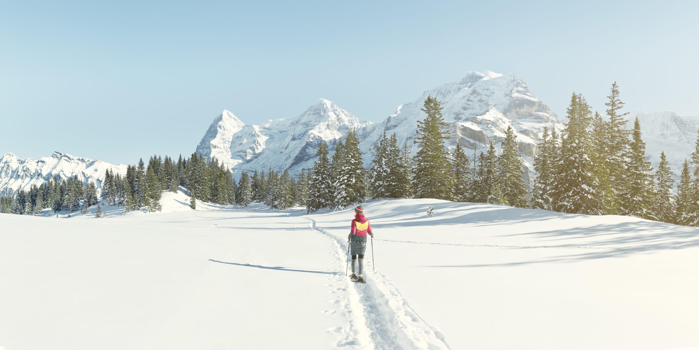Muerren Eiger Moench Jungfrau Wandern Winter