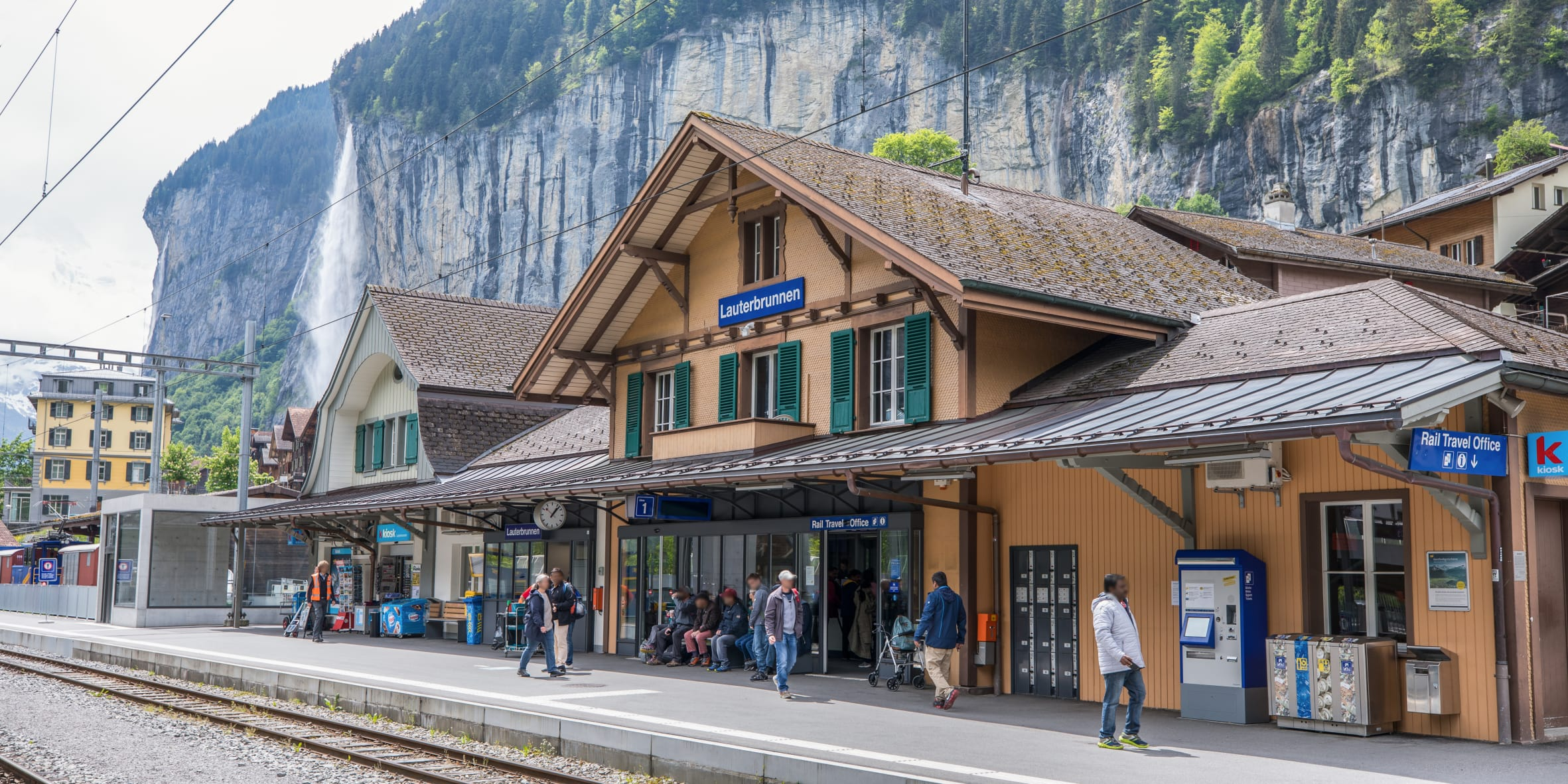 [Translate to English:] Bahnhof Lauterbrunnen