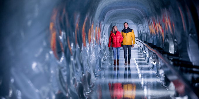 Jungfraujoch Ice Palace Sculptures de glace Glacier