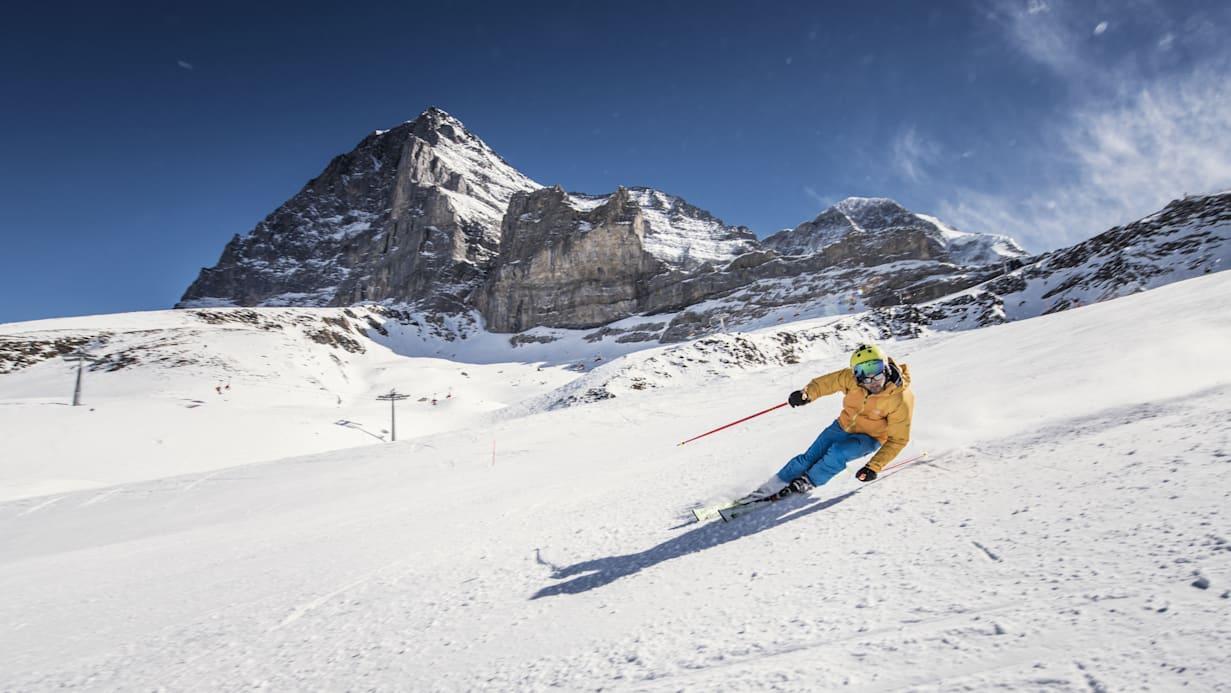 Jungfrau Ski Region Ski Piste Neige Eiger