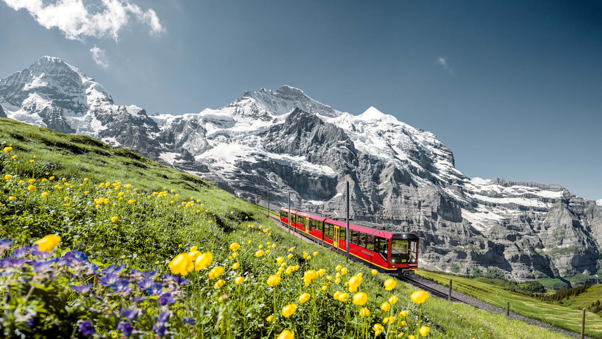 [Translate to English:] Jungfraubahn moench jungfrau sommer 03