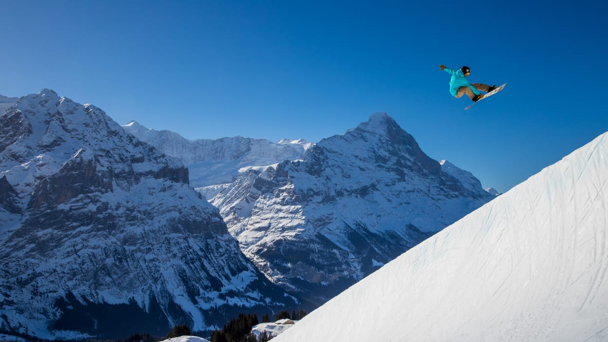 Experience activities, Grindelwald, halfpipe, season, Grindelwald-First ski area, Snowpark Grindelwald-First, winter, jungfrau.ch