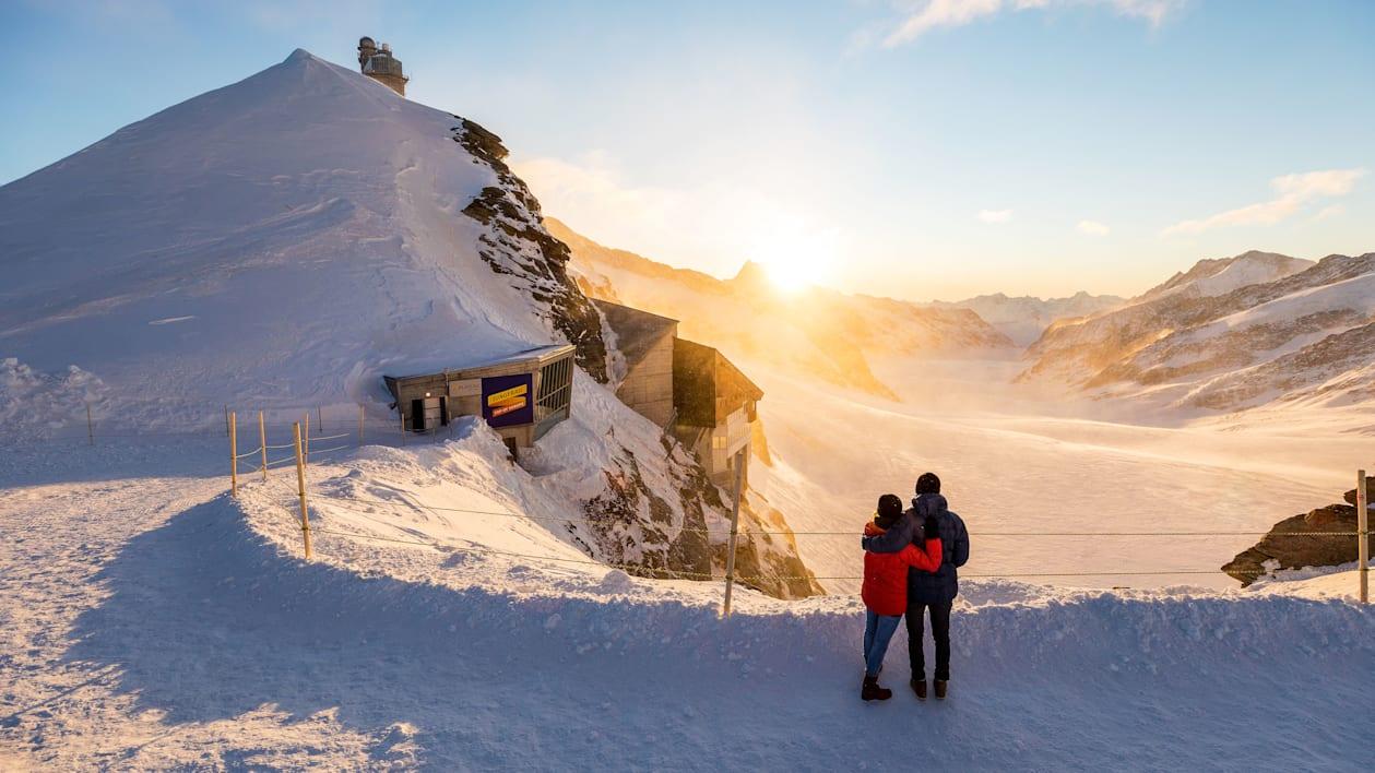 Evening-morning mood, experience activities, Jungfraujoch, Jungfraujoch-Top-of-Europe, Plateau, summer, relationships, winter, jungfrau.ch