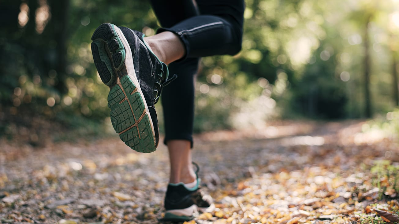 running in nature, activity, legs, running shoes, sportswoman, recreation, footwear, woman, autumn, fall, season, ground, young, woods, sneaker, park, closeup, fit, sole, mountain, athletic, outdoor, girl, shoe, female, workout, track, trail, training, jogging, forest, sport, healthy, lifestyle, athlete, marathon, foot, runner, fitness, run, exercise, road, path, nature