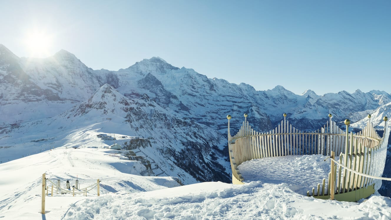 Erlebnisse-Aktivitaeten, Jungfrau-Ski-Region, Royal-Walk, Skigebiet-Grindelwald-Wengen, Winter