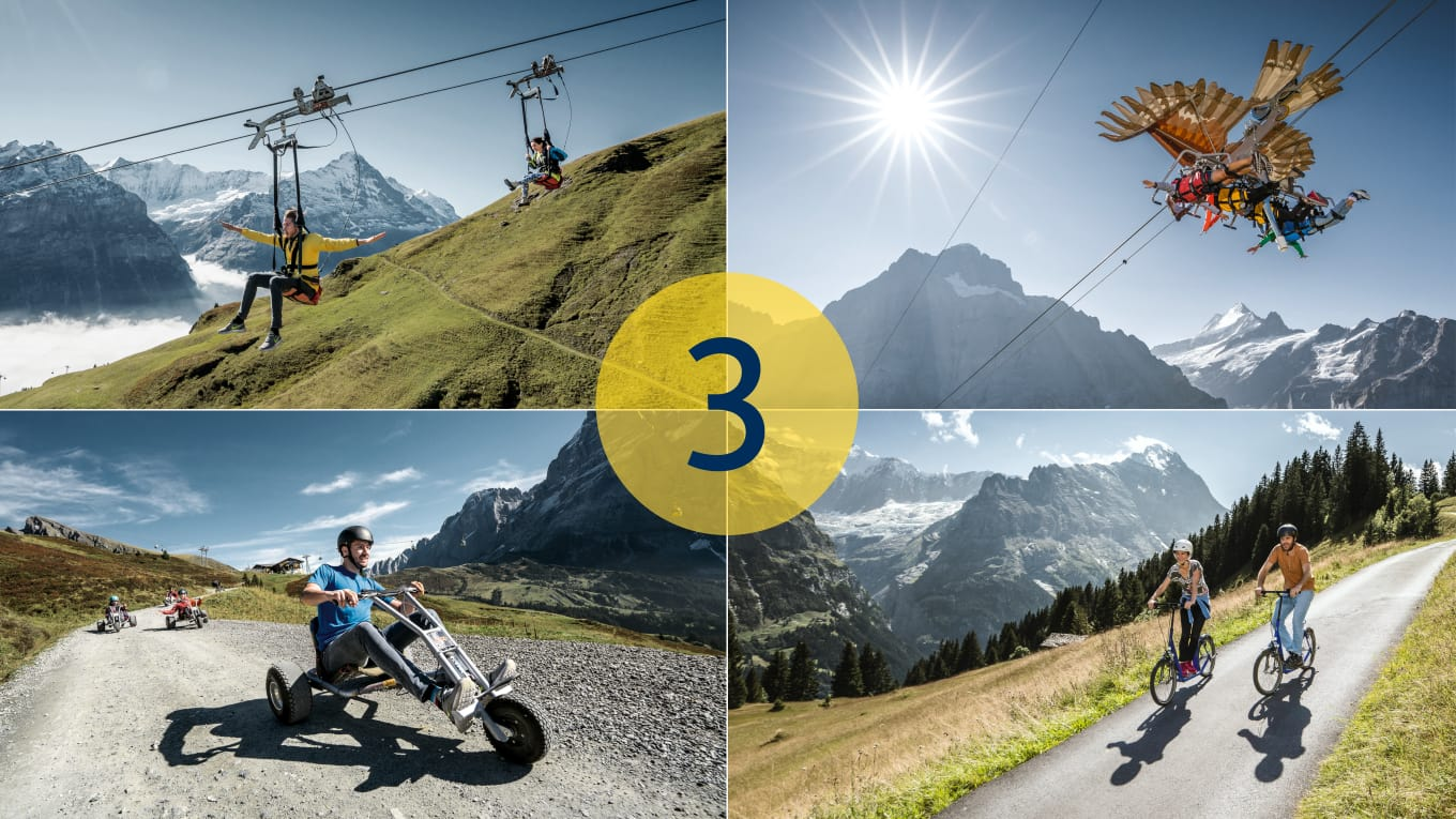 Adventure Packages Grindelwald First 3 Aktivitaeten