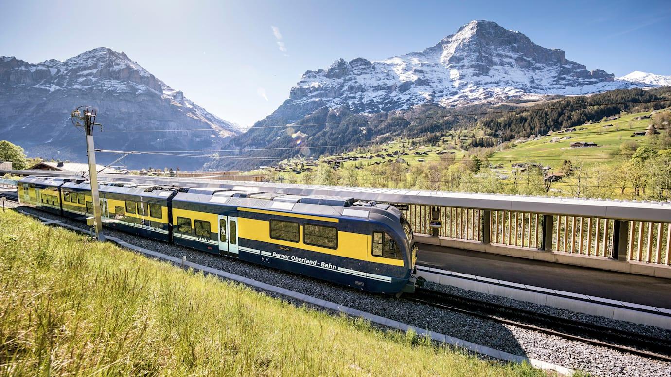 Grindelwald, Jungfraubahnen, Winter, V-Bahn, Terminal, Zug, BOB, Rothenegg
