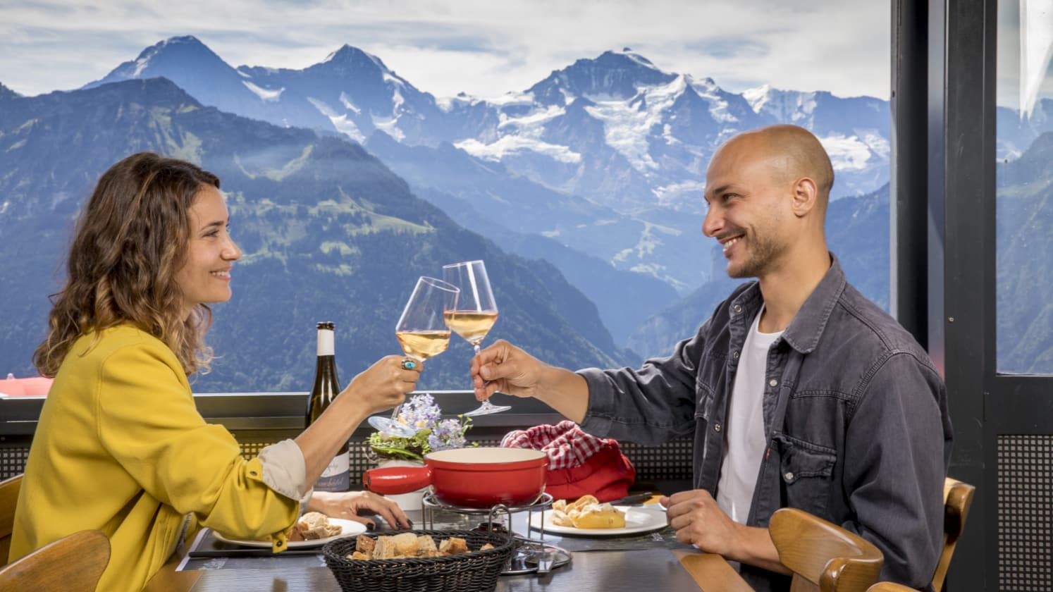Harder Kulm Panorama Restaurant Fondue