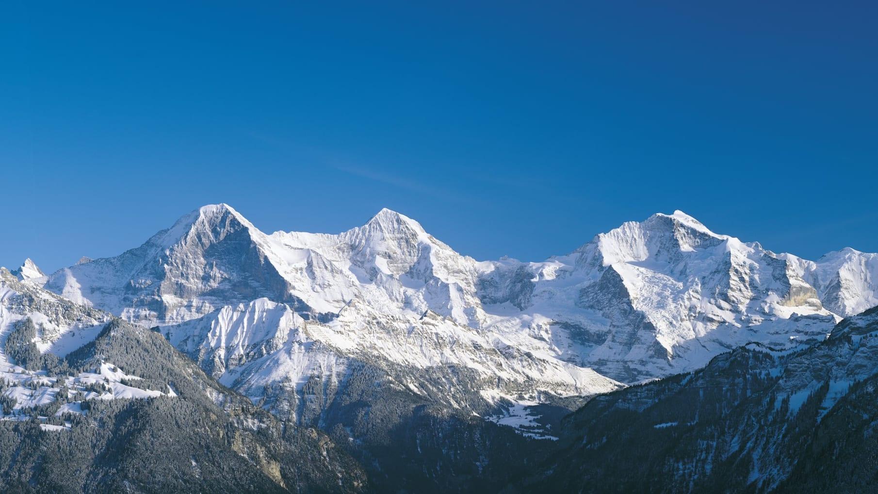 Eiger Moench Jungfrau Winter
