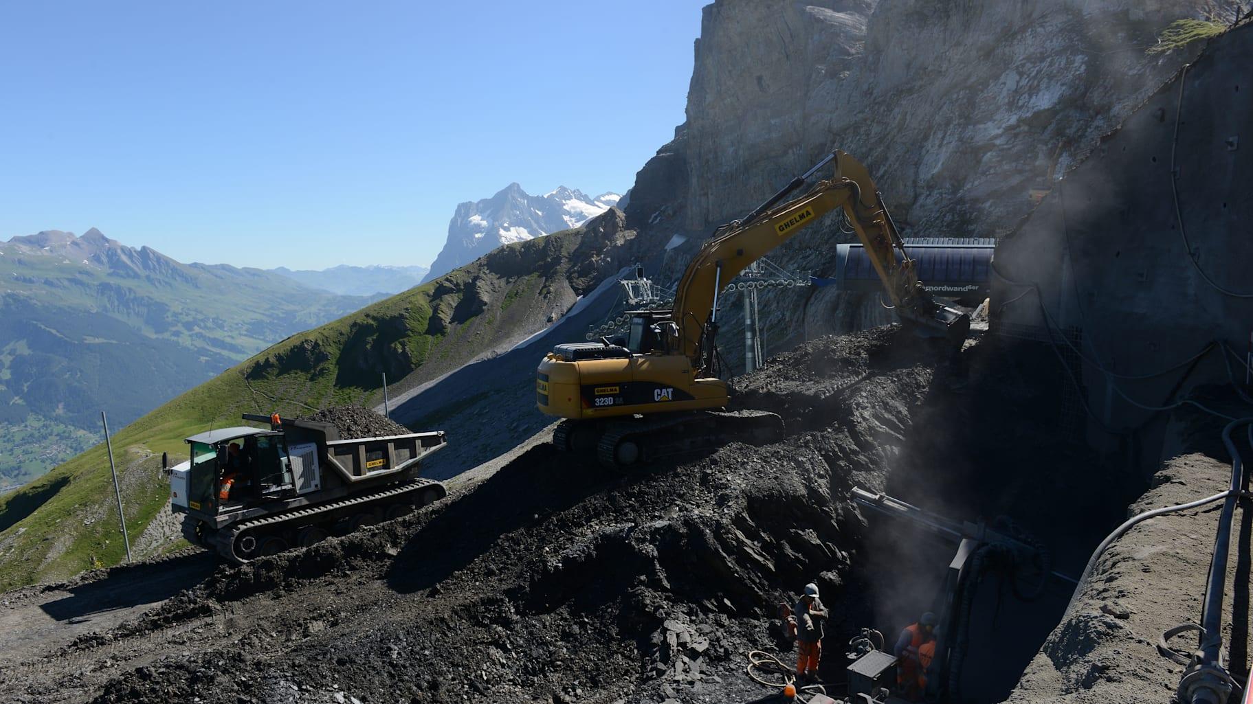 Baustelle Eigergletscher Sommer 2018