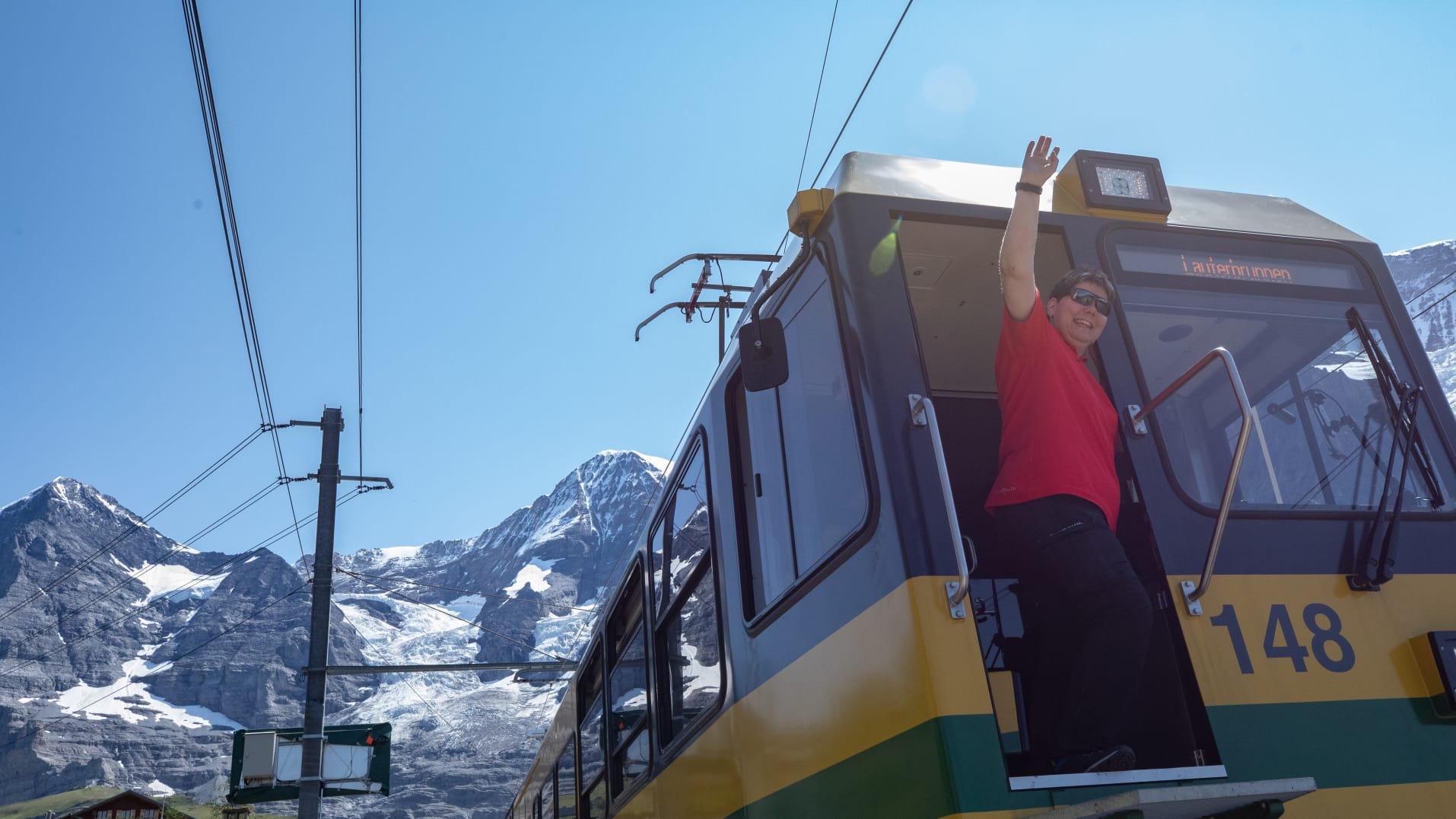 Triebfahrzeugführerin Jungfraubahnen Himmelberger MaiBritt 1
