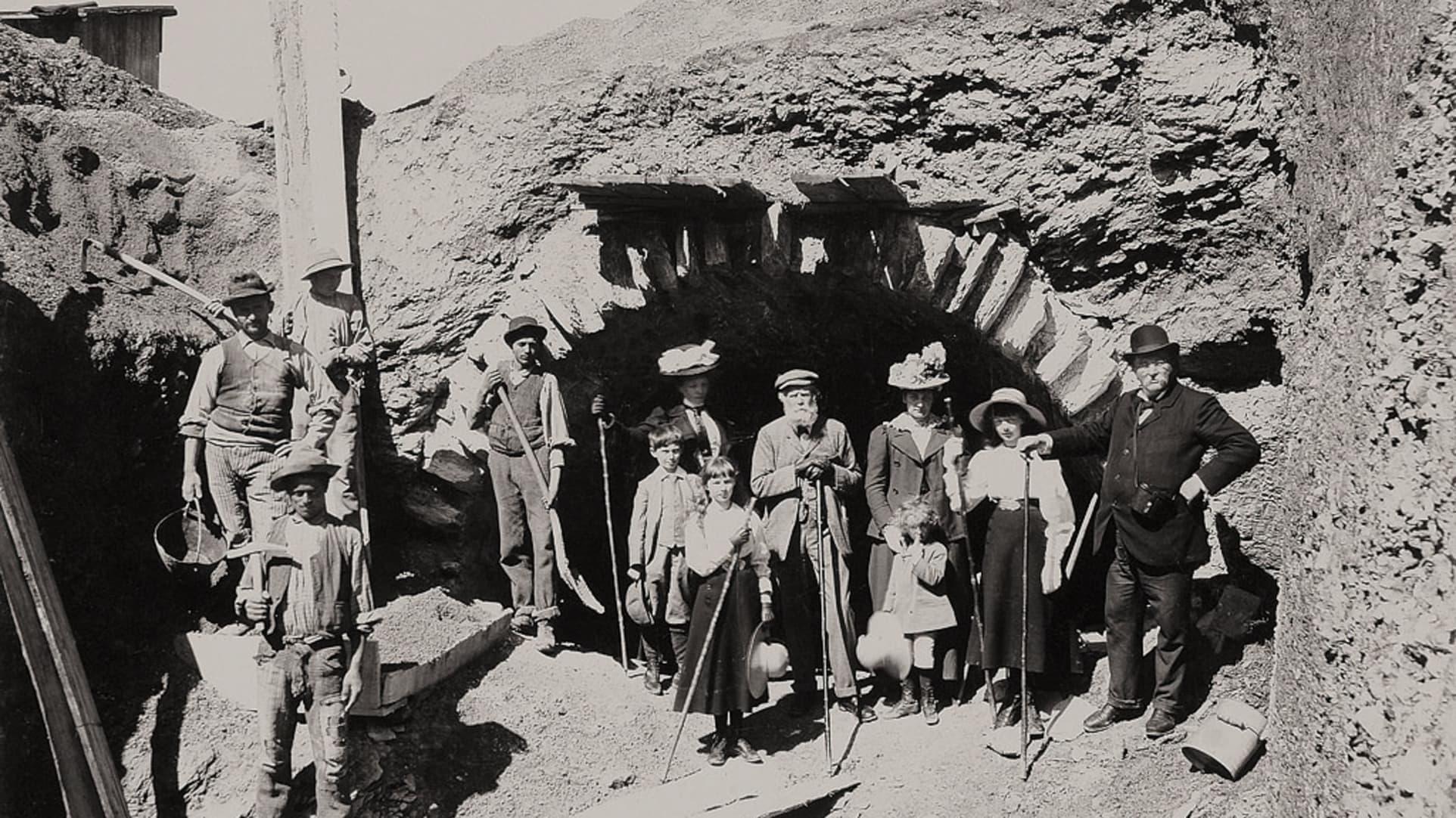 Bau der Jungfraubahn03
