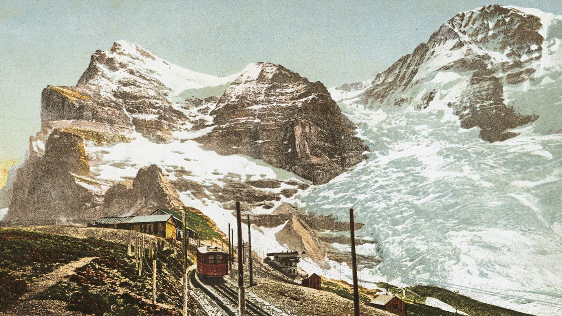 Bau der Jungfraubahn33
