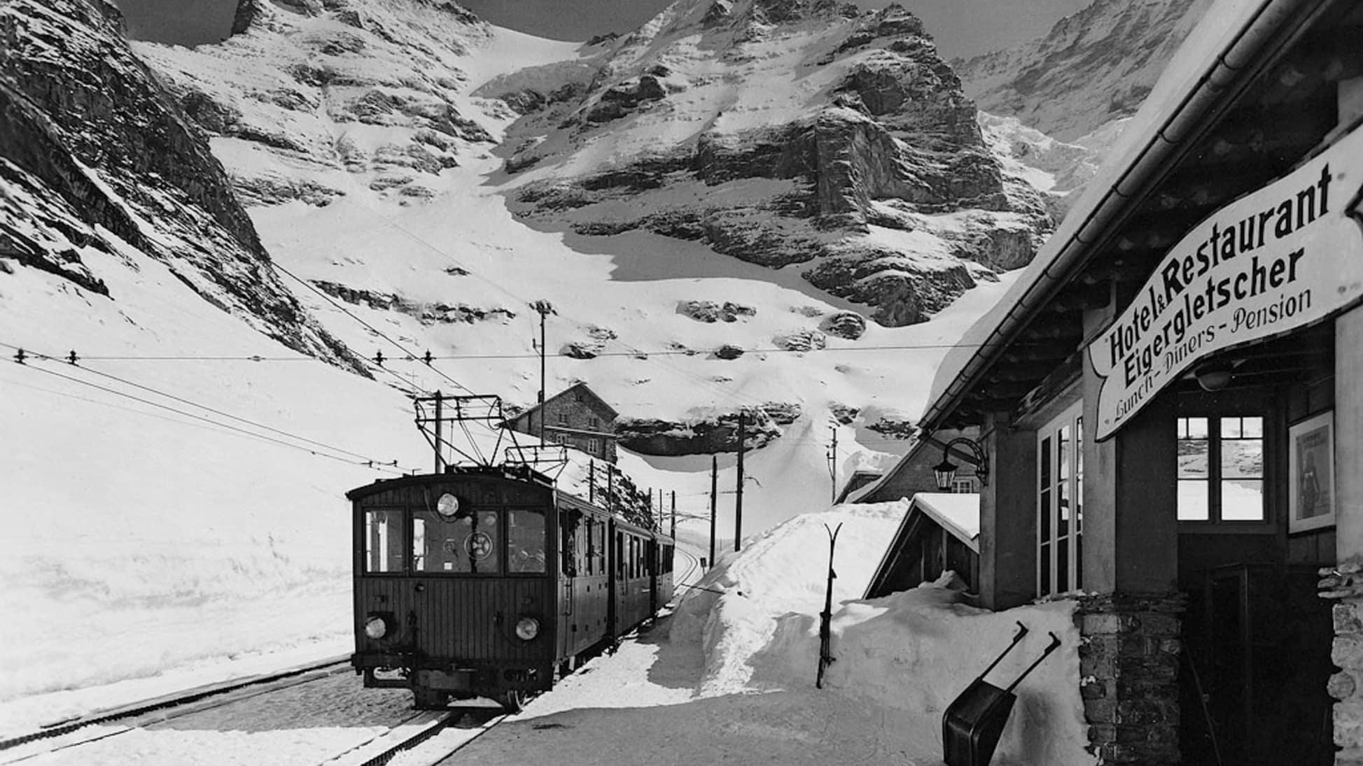 Bau der Jungfraubahn35
