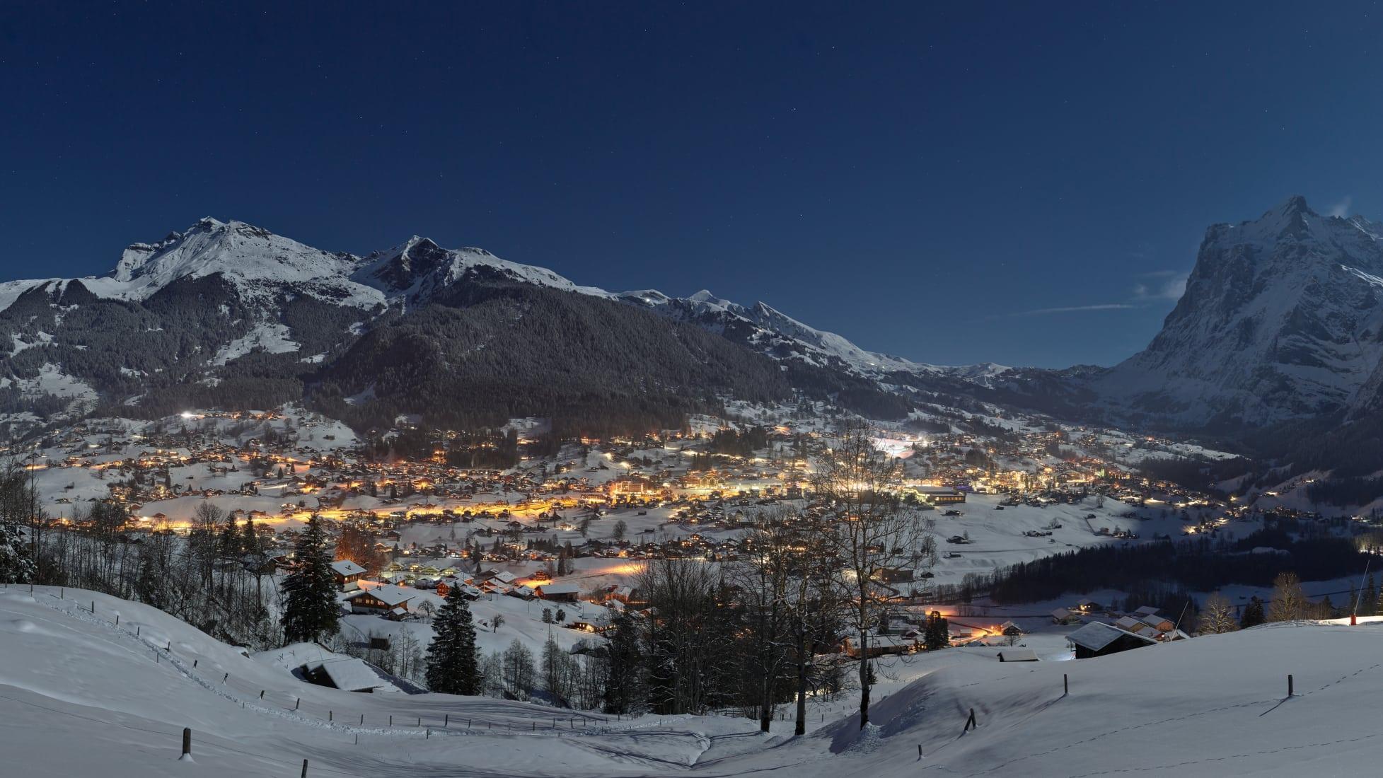 Grindelwald Winter Abendstimmung