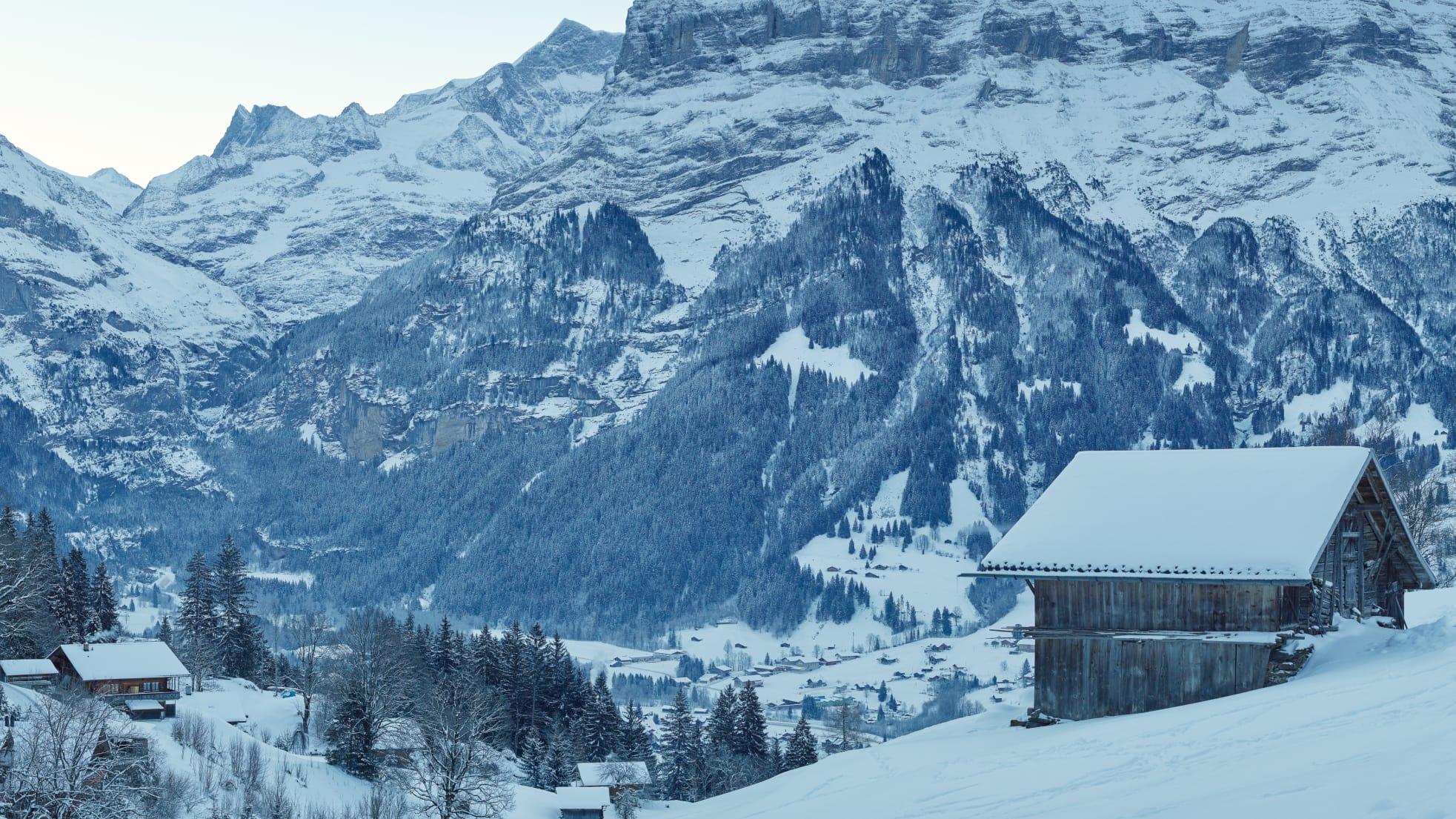 Grindelwald Winter Stall Maettenberg