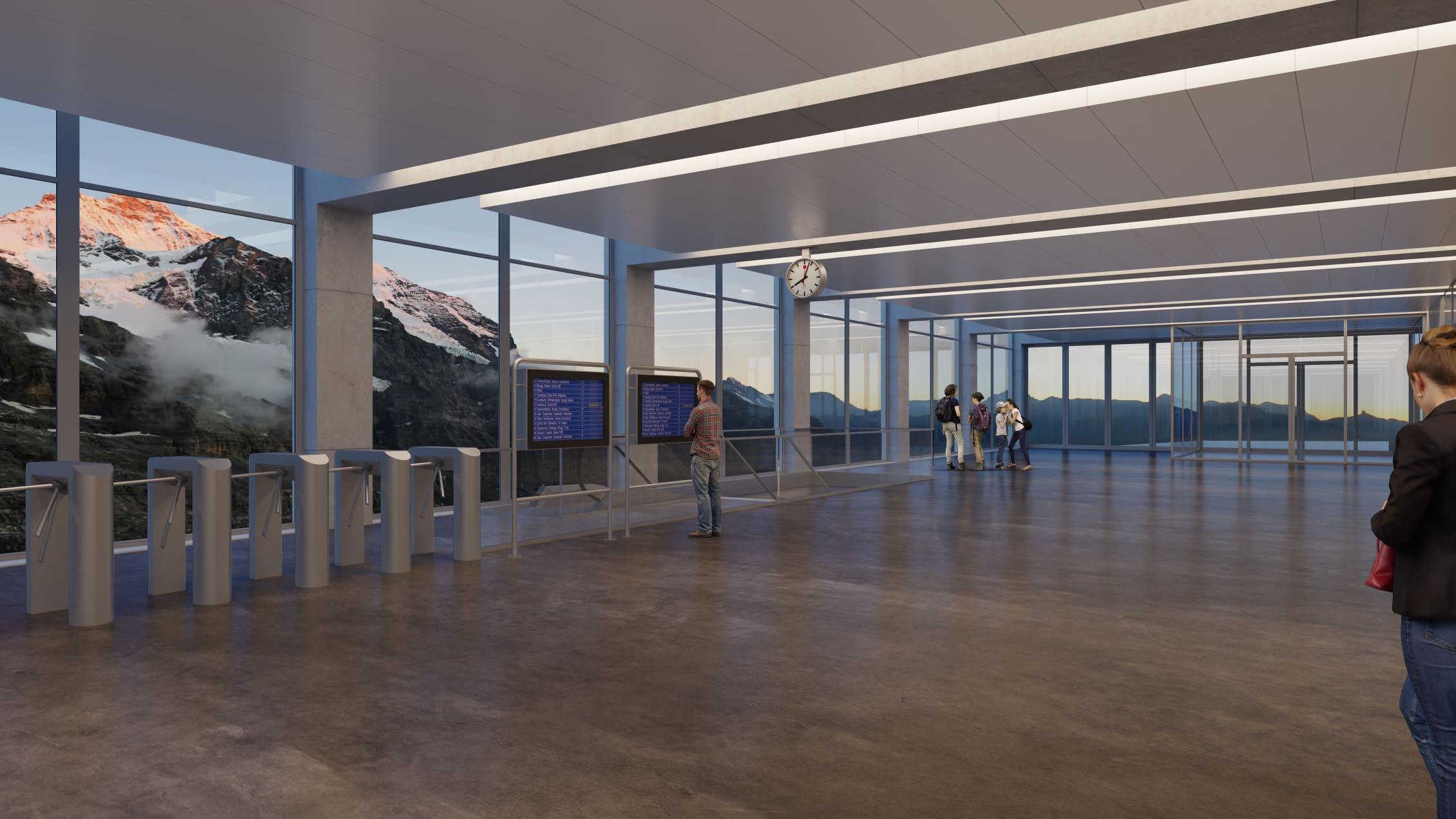 V bahn 3S Eigergletscher Panoramahalle 1