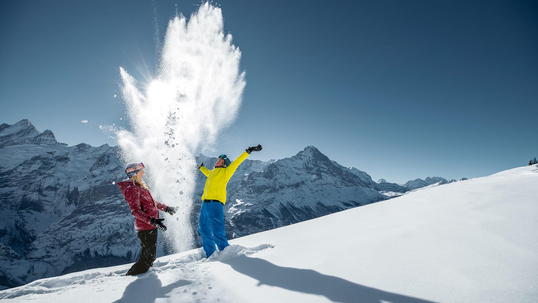 Jungfrau Skiregion Grindelwald Wengen Winterfun Eiger