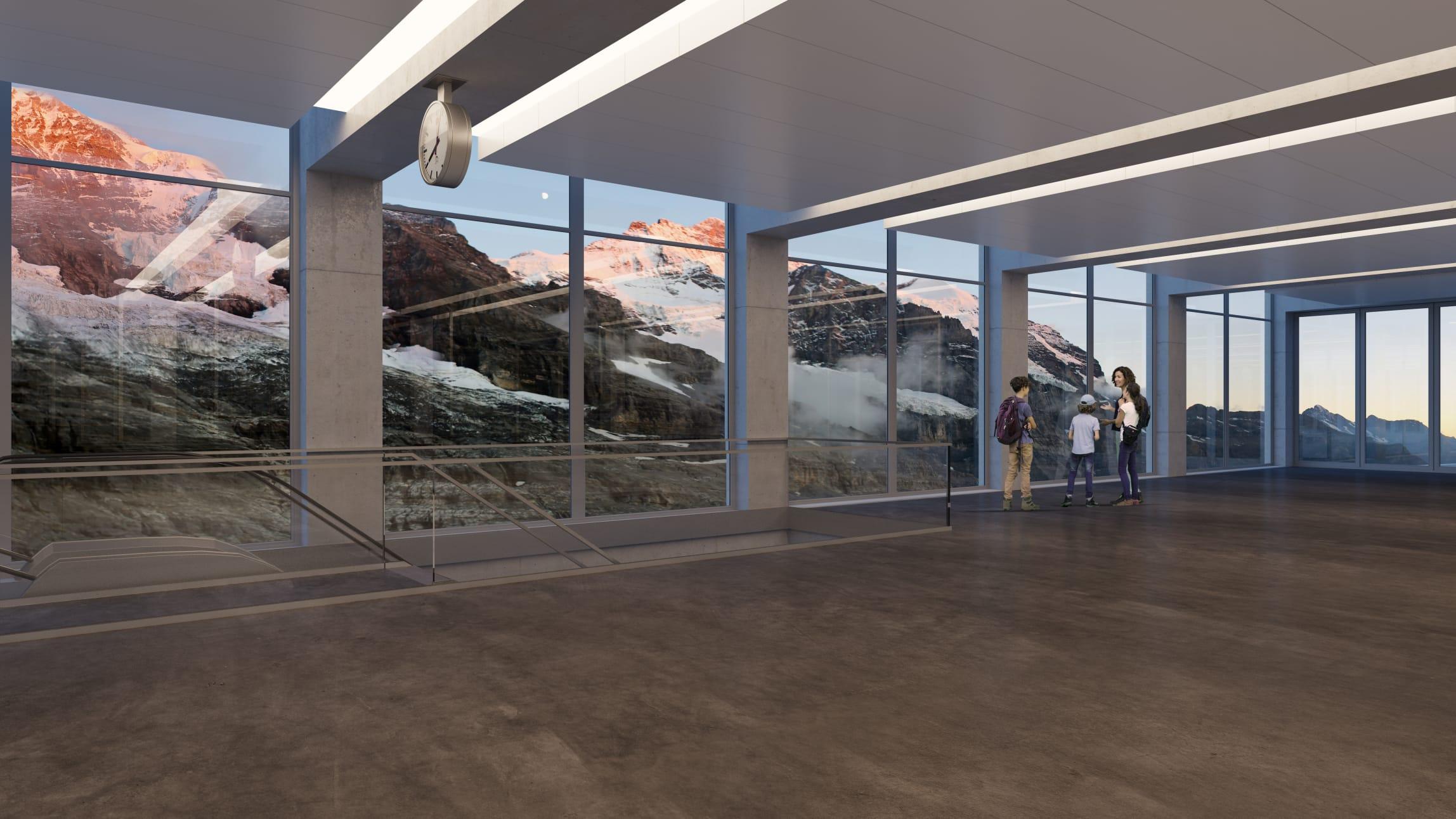 V bahn 3S Eigergletscher Panoramahalle 2