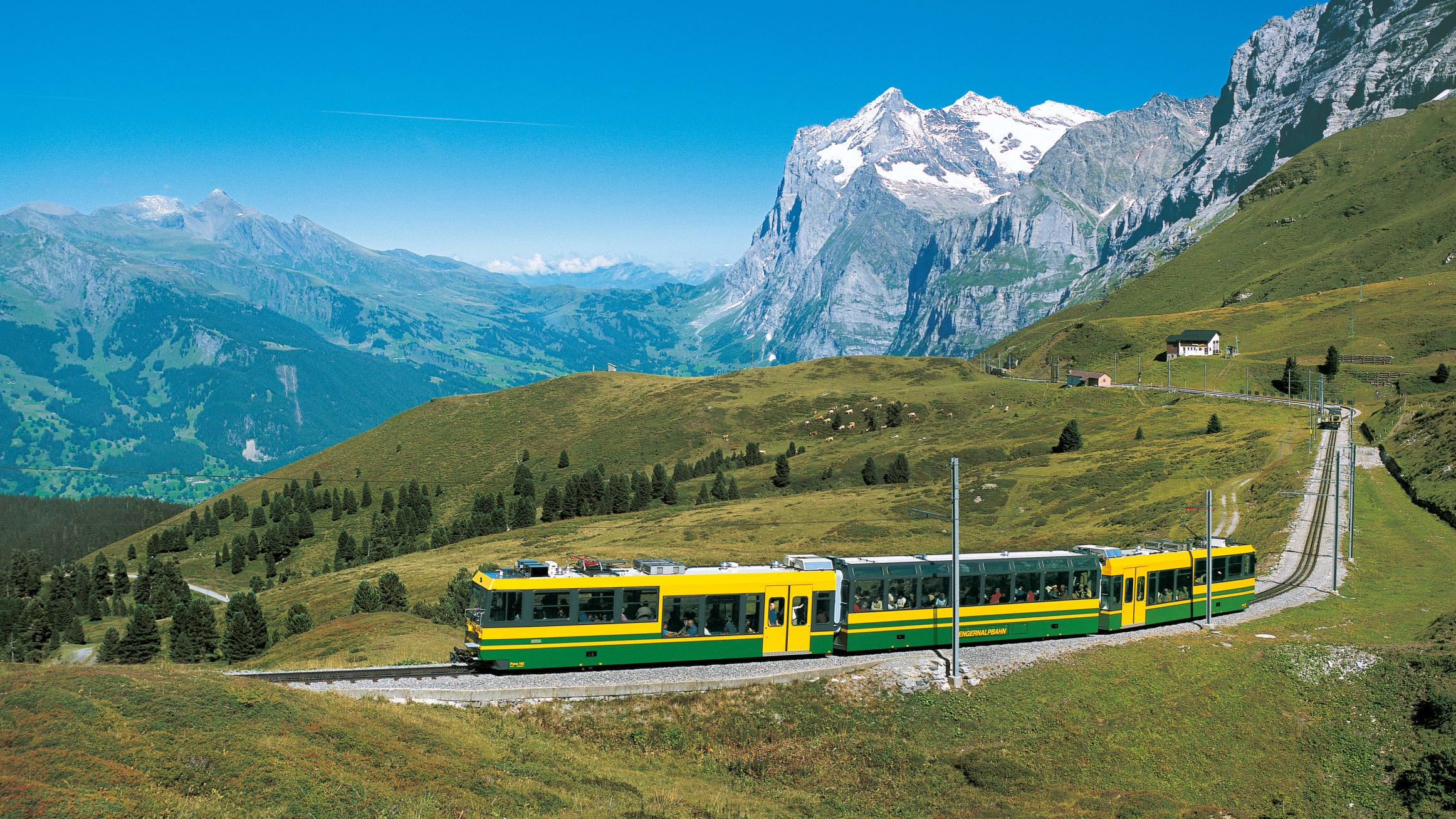 Wengernalpbahn wetterhorn sommer