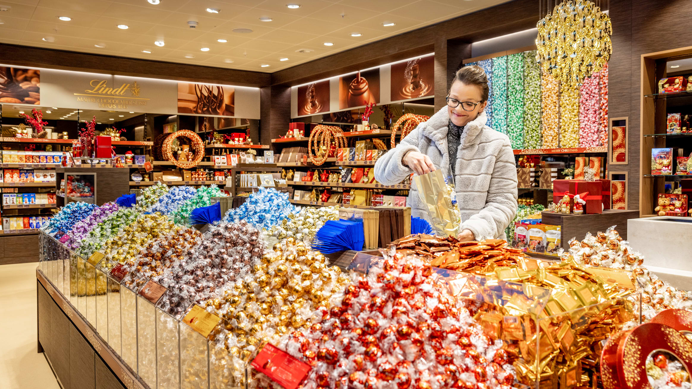 Grindelwald Terminal Lindt Shop Auswahl Lindor Kugeln