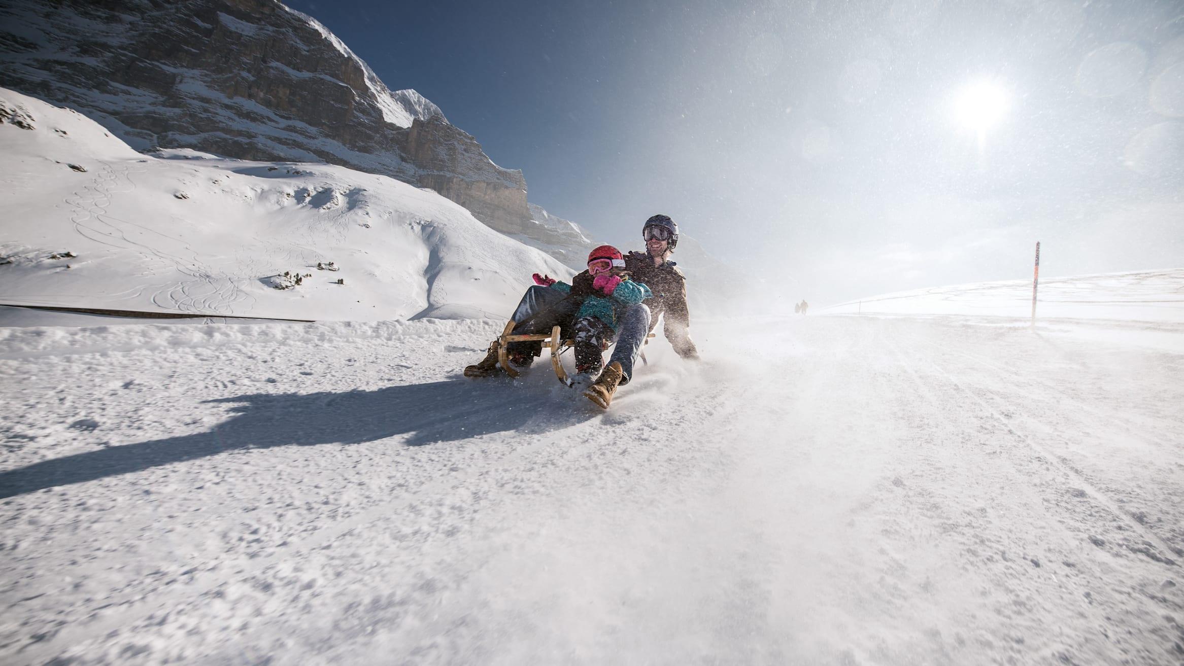 Jungfrau Grindelwald Eiger Run sledging
