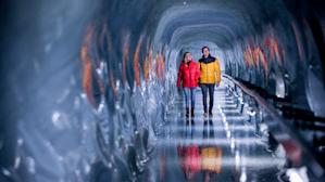 Jungfraujoch Ice Palace Ice sculptures Glacier