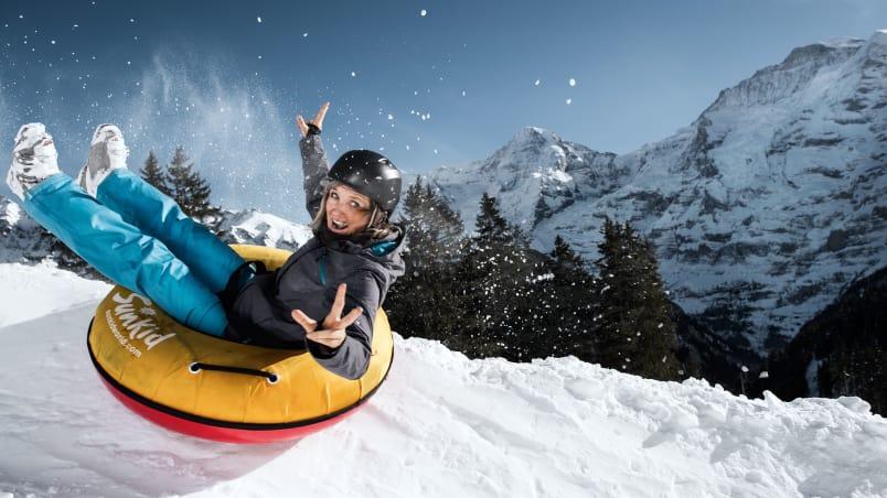 Jungfrau muerren winteregg snowtubing