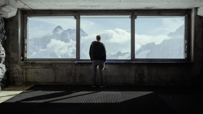 Jungfraubahn Station Eismeer Aussicht Jungfraujoch