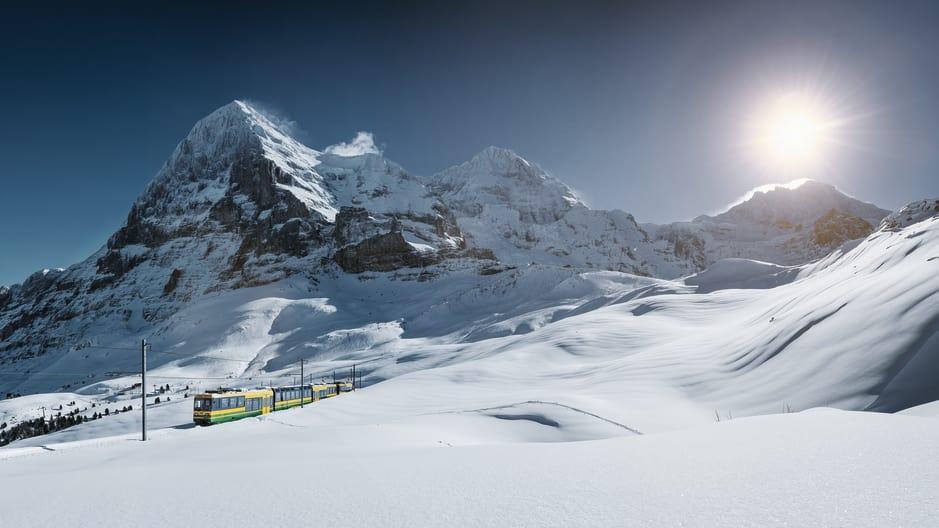 Jungfrau WAB wengernalpbahn Eiger Moench Jungfrau