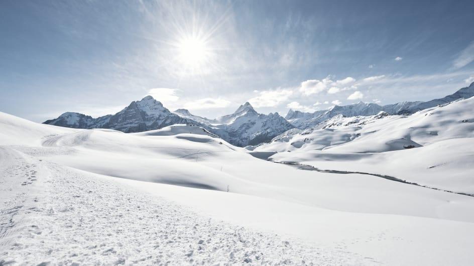 Winterwandern Schreckhorn Wetterhorn
