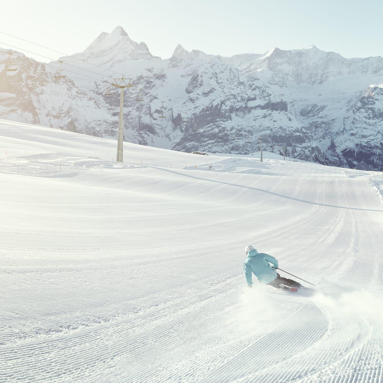 Erlebnisse-Aktivitaeten, Jungfrau-Ski-Region, Ski, Skigebiet-Grindelwald-First, Winter