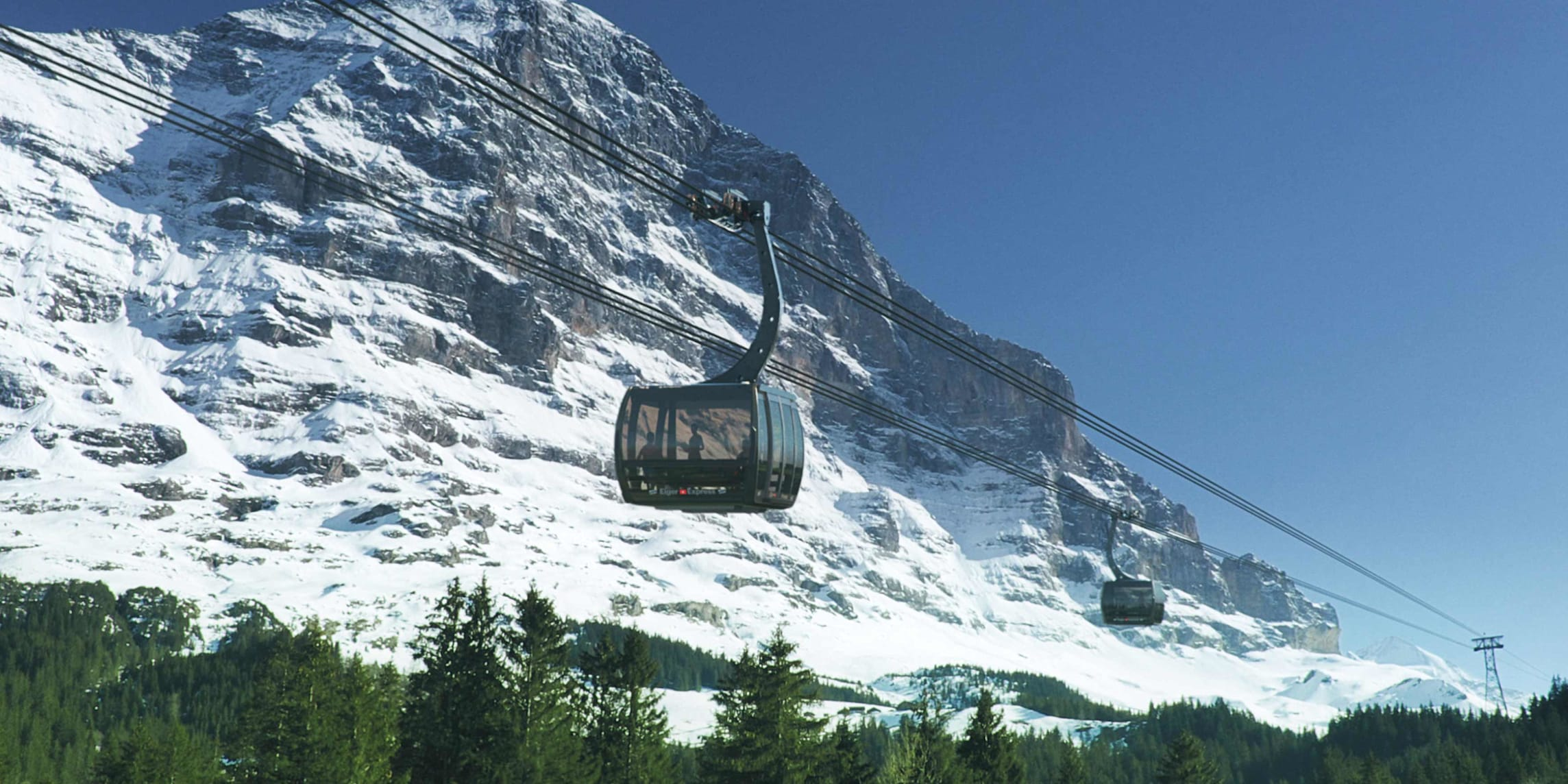 Jungfraubahnen Hintergrundbild 5000x1755px