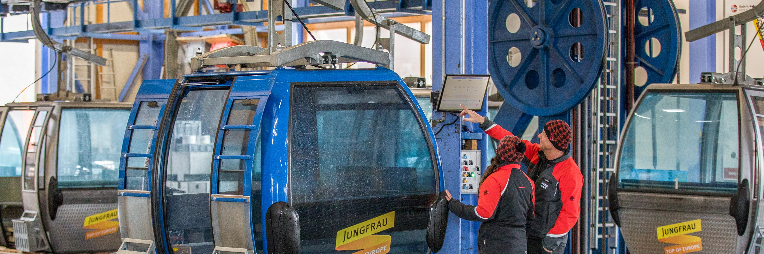 Mitarbeiter Jungfraubahnen, Mitarbeiter am Arbeitsplatz, Natascha-Amacher