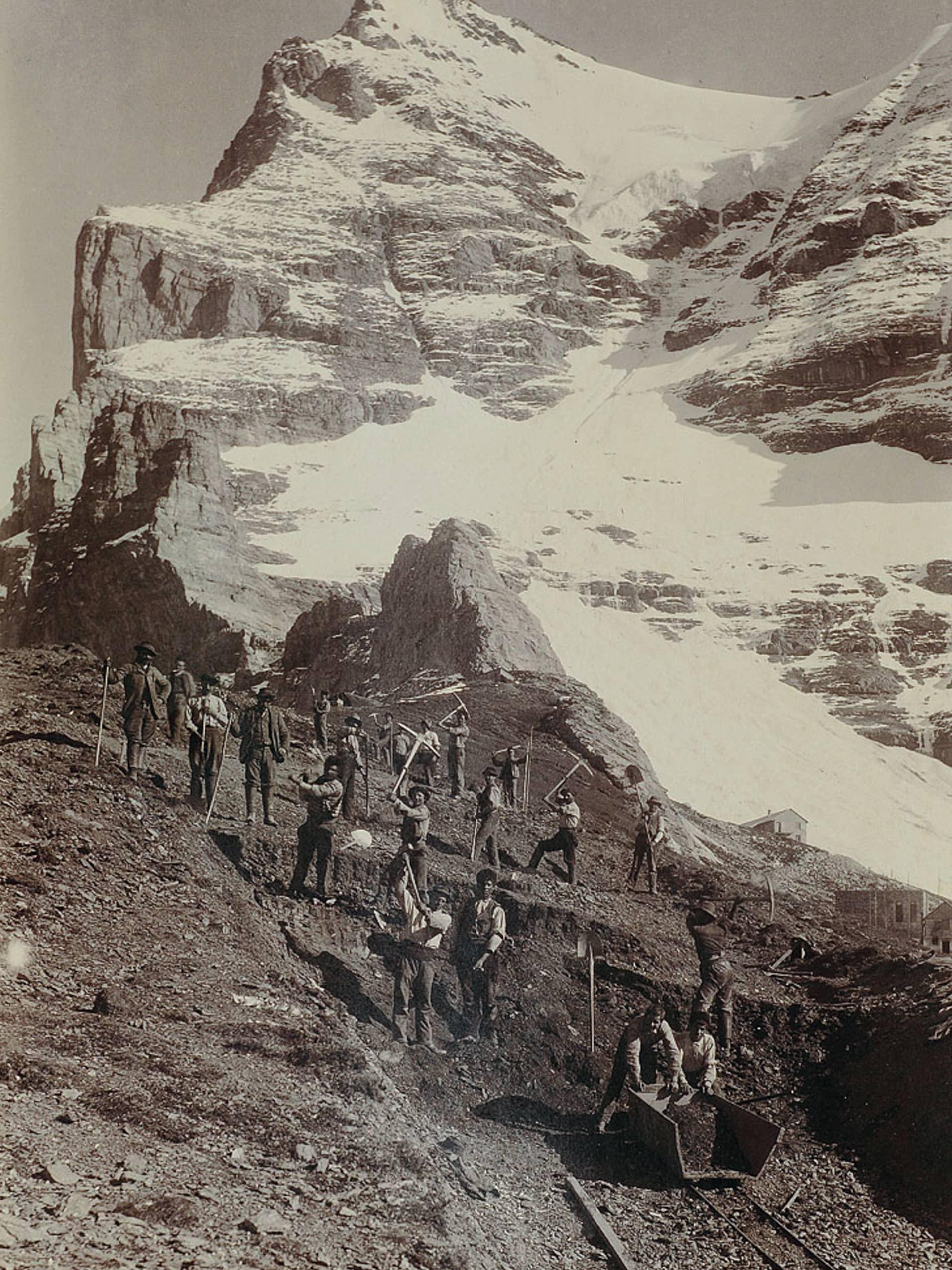 Bau der Jungfraubahn36