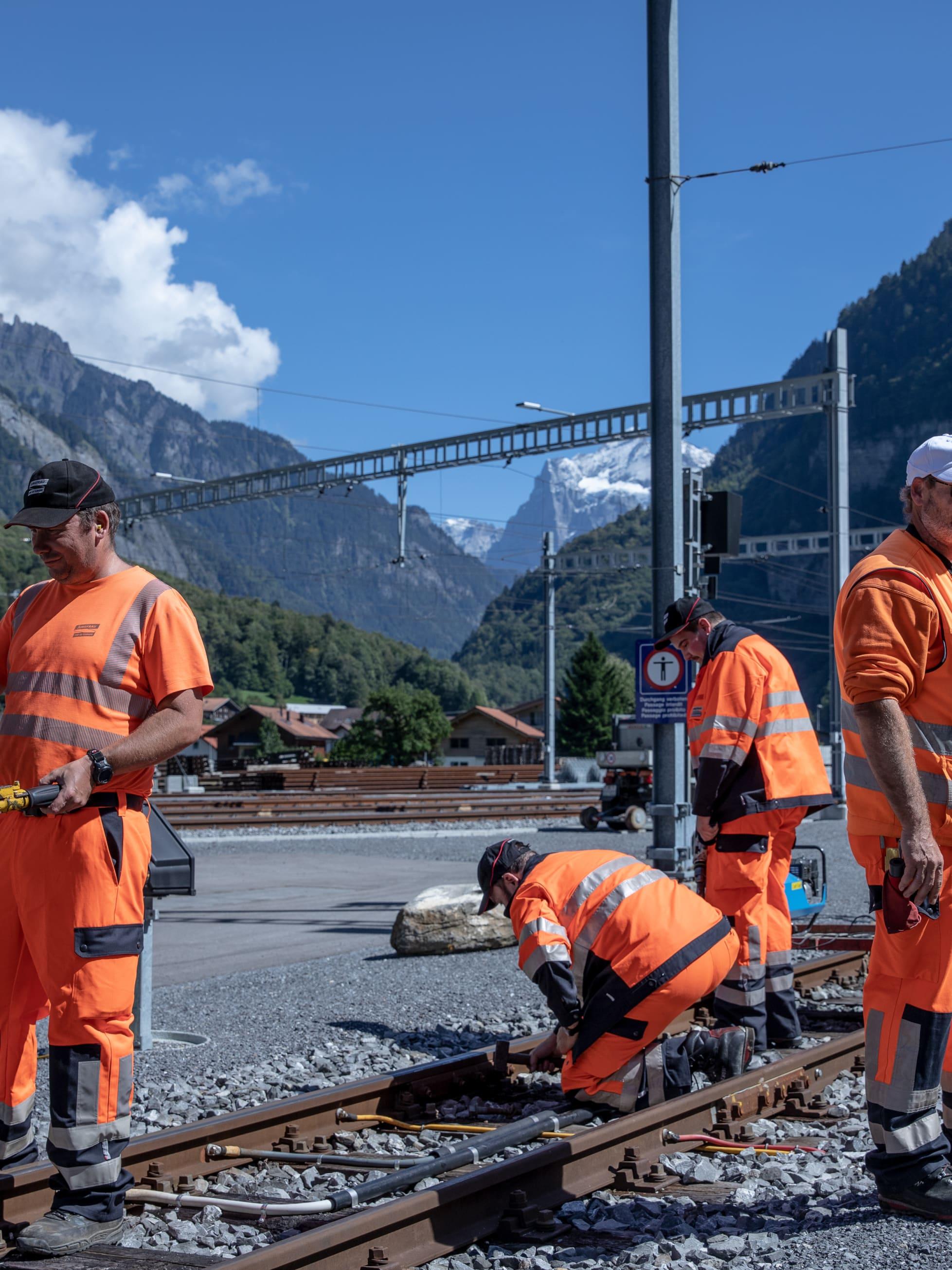 Gleisbauer Jungfraubahnen Streit Martin 1