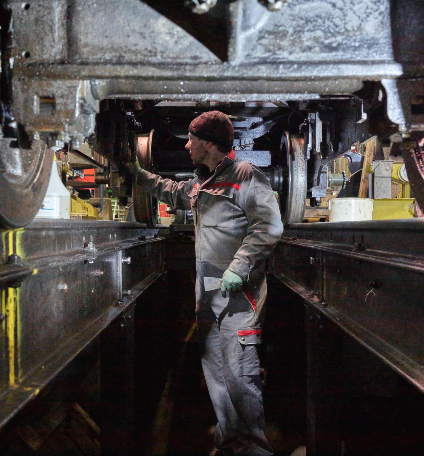 Schynige Platte Bahn Revision Rollmaterial Arbeiter