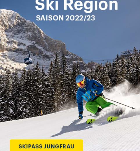 Jungfrau Ski Region Pistenplan Pocket Map