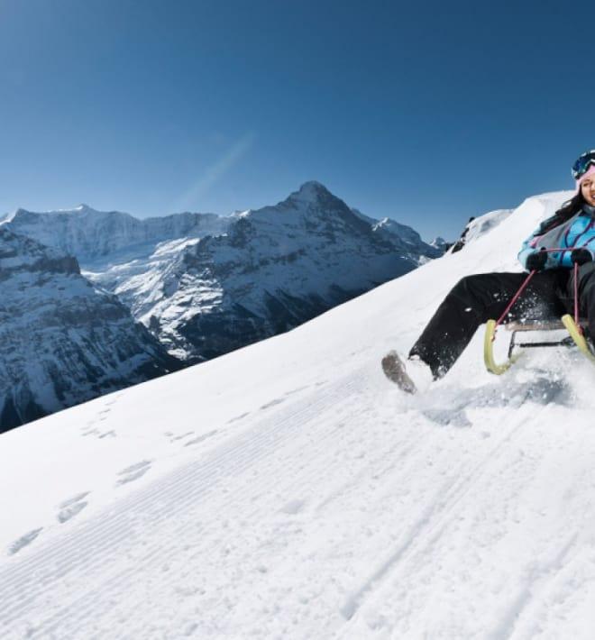 Grindelwald First Schlitteln Big Pintenfritz Faulhorn
