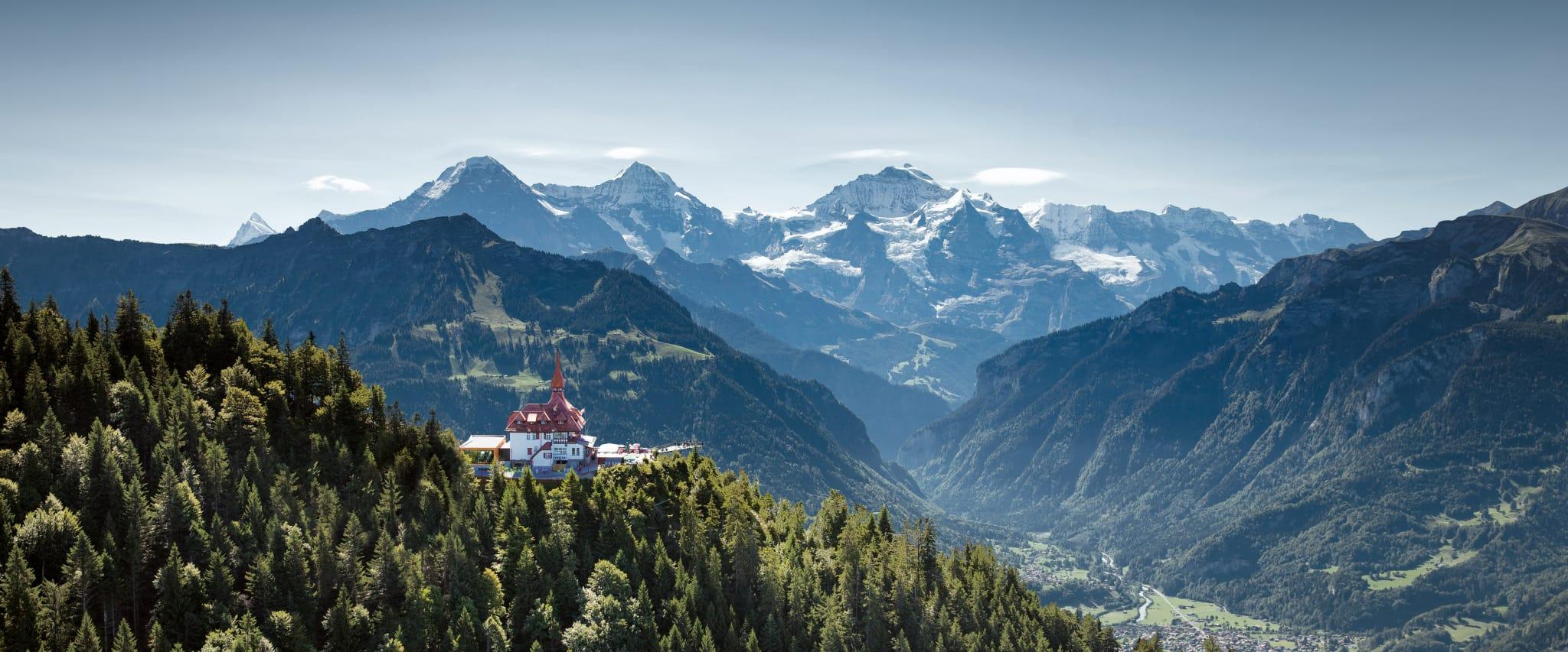 Aiger Monch Jungfrau Outline Sketch Vector Art